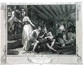 The Idle Prentice Betrayed by a Prostitute plate IX of Industry and Idleness - William Hogarth