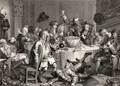 A Midnight Modern Conversation from The Works of William Hogarth - William Hogarth