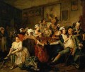 A Rakes Progress III The Rake at the Rose Tavern - William Hogarth
