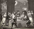 Sancho at the Feast Starved by his Physician from The Works of Hogarth - William Hogarth