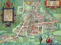 Map of Cambridge from Civitates Orbis Terrarum - (after) Hoefnagel, Joris