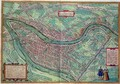 Map of Lyon from Civitates Orbis Terrarum - (after) Hoefnagel, Joris