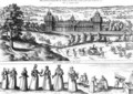 Elizabeth I s Procession Arriving at Nonesuch Palace and Illustrations of Social Hierarchy - Joris Hoefnagel