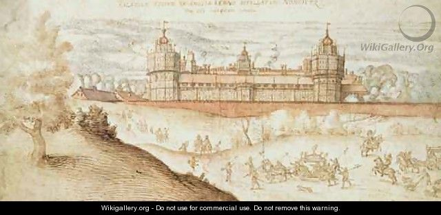 Elizabeth I s Procession arriving at Nonesuch Palace - Joris Hoefnagel