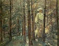 Woman in a Wood - Adolf Hoelzel