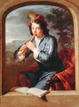 Young Man Playing the Flute - Gerard Hoet