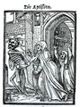 Death and the Abbotess - (after) Holbein the Younger, Hans