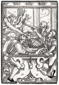 Death and the Devil come for the Card Player - (after) Holbein the Younger, Hans