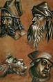 Studies of Four Heads for a Passion Series - Sigmund Holbein
