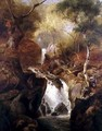 Waterfall through a Woodland - Edward Henry Holder