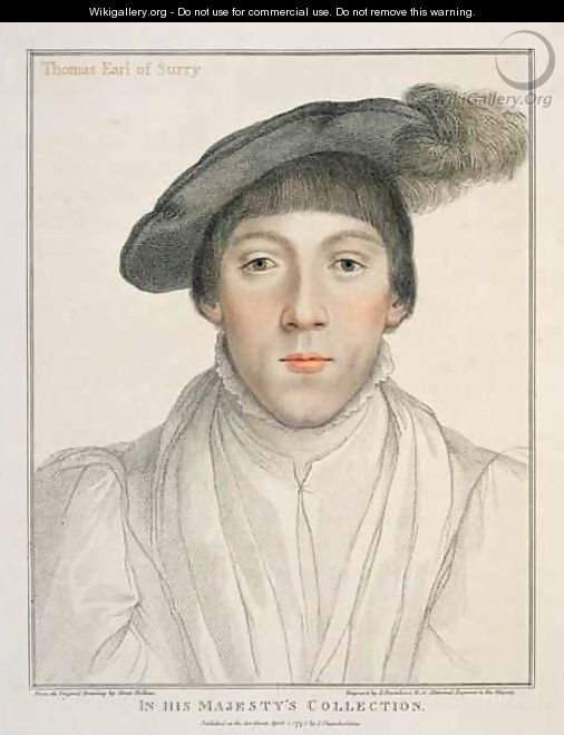 Henry Howard Earl of Surrey - (after) Holbein the Younger, Hans