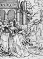 Death and the Courtier from The Dance of Death - (after) Holbein the Younger, Hans