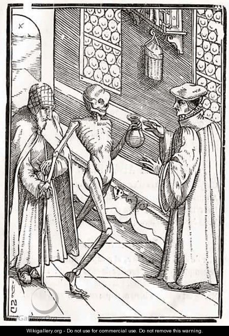 Death comes to the Doctor - (after) Holbein the Younger, Hans
