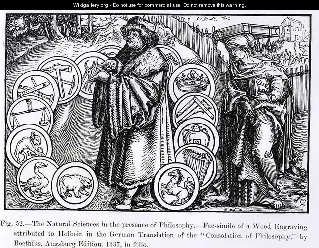 The Natural Sciences in the Presence of Philosophy - (after) Holbein the Younger, Hans