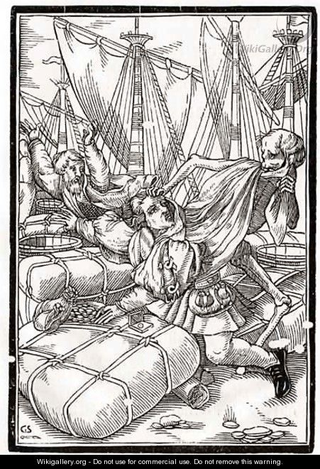 Death comes to the Merchant - (after) Holbein the Younger, Hans