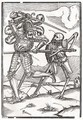 Death comes to the Knight or Count - (after) Holbein the Younger, Hans