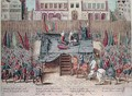 Execution of Philippe II de Montmorency 1518-68 Count of Hornes Brussels - Franz Hogenberg