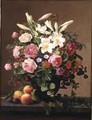 Still Life with Flowers and Fruit - V. Hoier