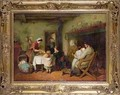 Christmas Visitors Stirring the Pudding - Frederick Daniel Hardy