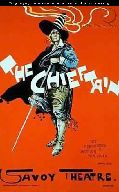 Reproduction of a poster advertising The Chieftain Savoy Theatre - Dudley Hardy