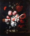 Still life of flowers in an urn 2 - Pieter Hardime