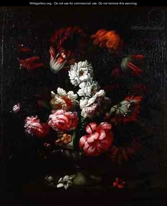 Still life of flowers in an urn - Pieter Hardime