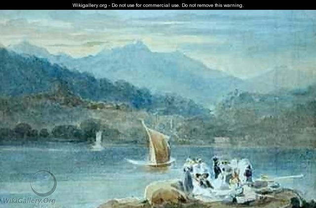 Picnic at Windermere looking towards Brathay - John Harden
