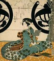 Beauty Viewing Flowers - Gakutei Harunobu