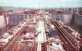 The Gatun Locks during construction of the Panama Canal - Earle Harrison