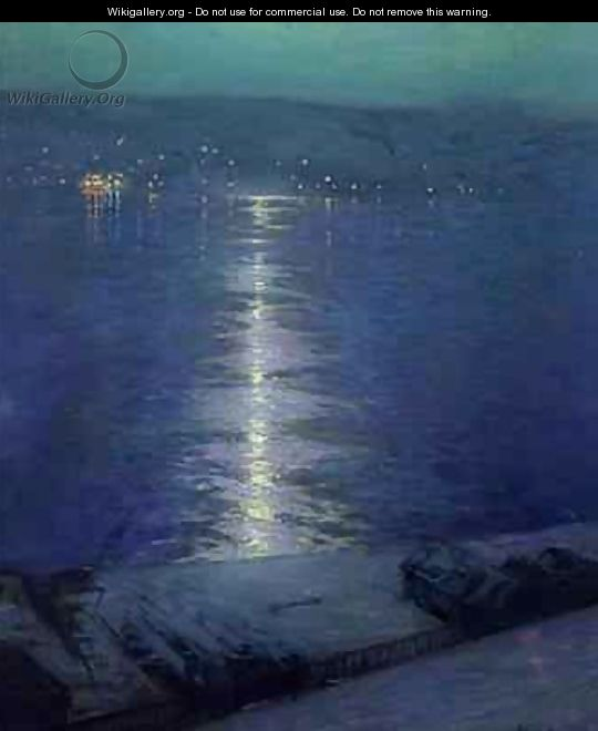 Moonlight on the River - Lowell Birge Harrison