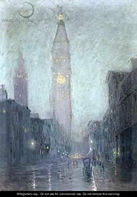 Madison Avenue at Twilight - Lowell Birge Harrison