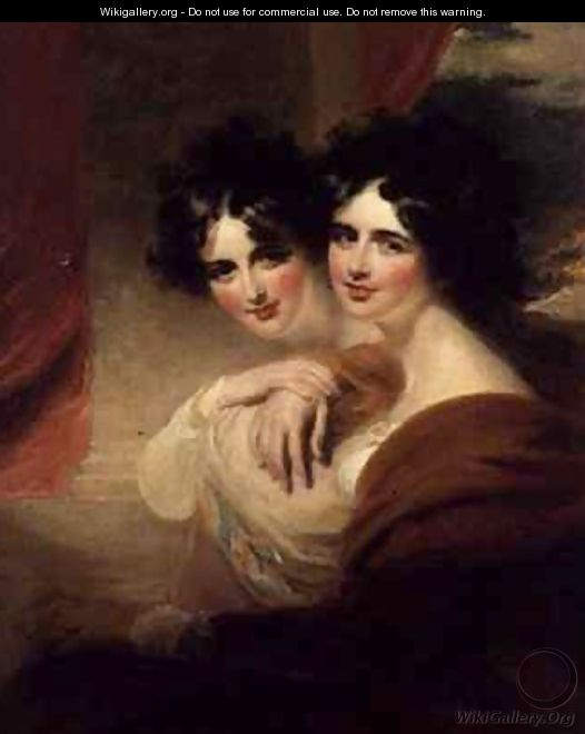 Congratulations portraits of two ladies - George Henry Harlow