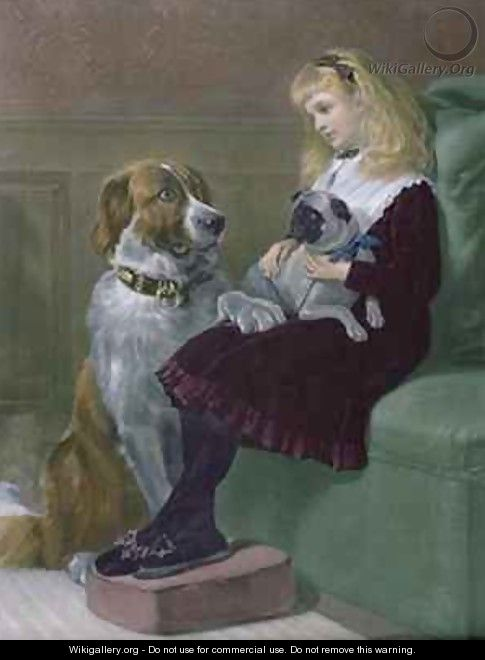 Her only Playmates - Heywood Hardy