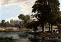 View of Windsor Castle from the playgrounds of Eton College - William Havell