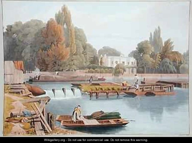 The Weir from Marlow Bridge - William Havell