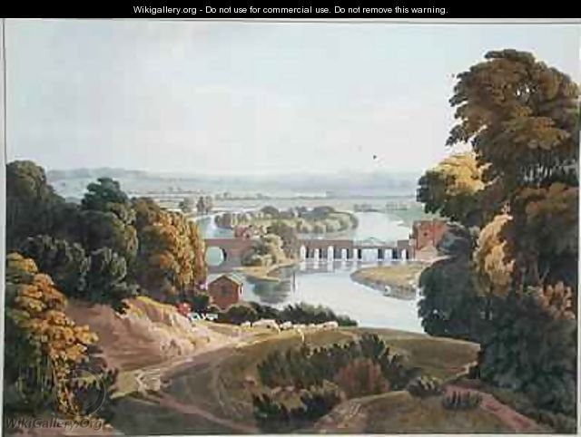 Caversham Bridge near Reading - William Havell