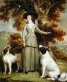 The Countess of Effingham with Gun and Shooting Dogs - George Haugh