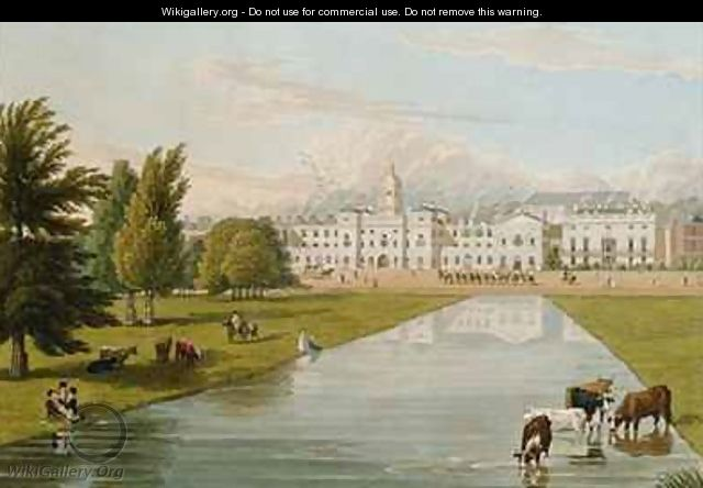 View of the Horse Guards and Melbourne House - Robert the Elder Havell