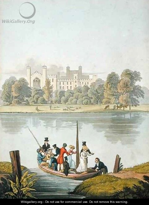 Eton College and Ferry over the Thames - Robert Havell, Jr.