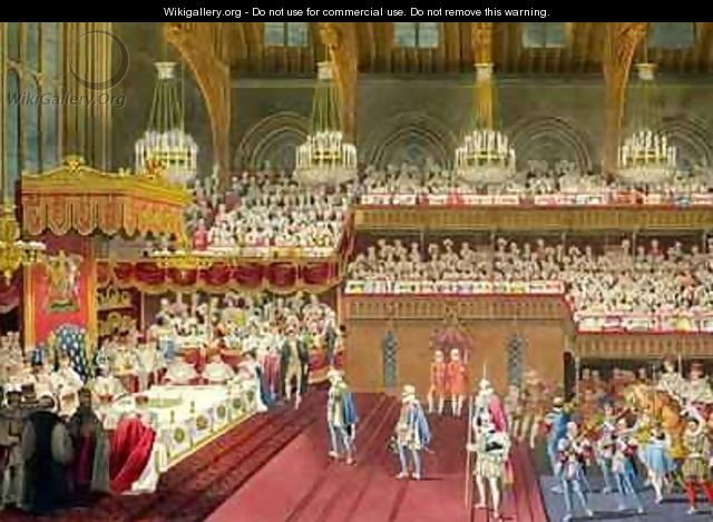 The Royal Banquet The bringing of the first Course - Robert Havell, Jr.