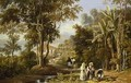 Garden Scene on the Broganza Shore Rio de Janeiro - William Havell