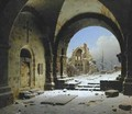 Cloister Ruins in Winter - Carl Georg Adolph Hasenpflug
