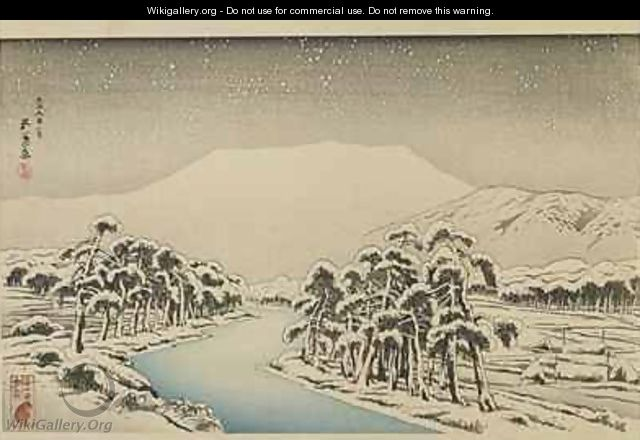 Mount Ibuki in Snow Taisho era - Goyo Hashiguchi