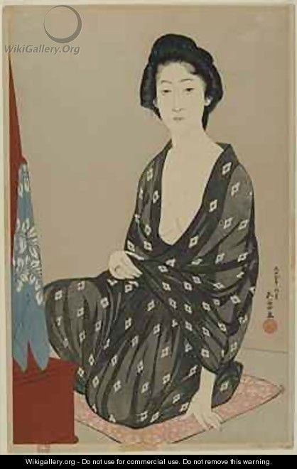 Woman in Summer Dress Taisho era - Goyo Hashiguchi