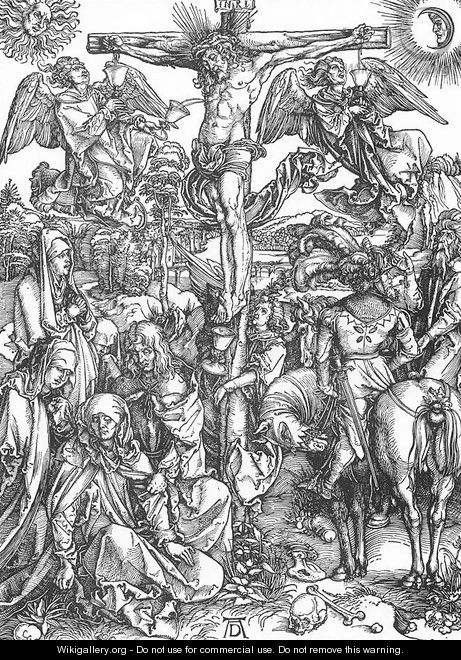 The Large Passion 6. The Crucifixion - Albrecht Durer