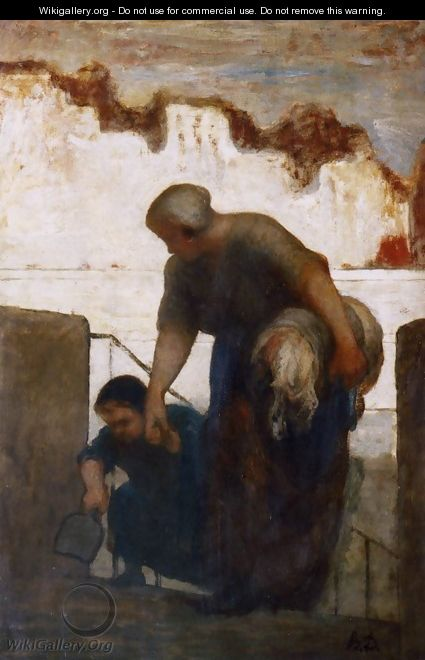 The Washerwoman - Honoré Daumier