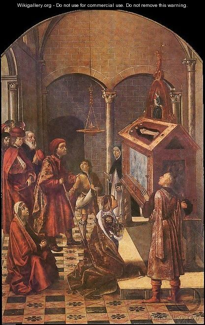 The Tomb of Saint Peter Martyr - P. Joos van Gent and Berruguete