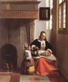 Woman Peeling Apples - Pieter De Hooch