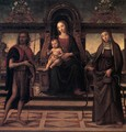Virgin and Child with Sts John the Baptist and Verdiana - Italian Unknown Master