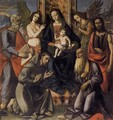 Virgin and Child with Four Saints - Italian Unknown Master